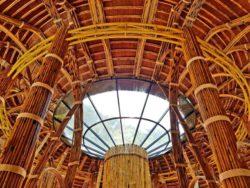 Intérieur - Bamboo building par Rau Arch - Vietnam © Inhabitat