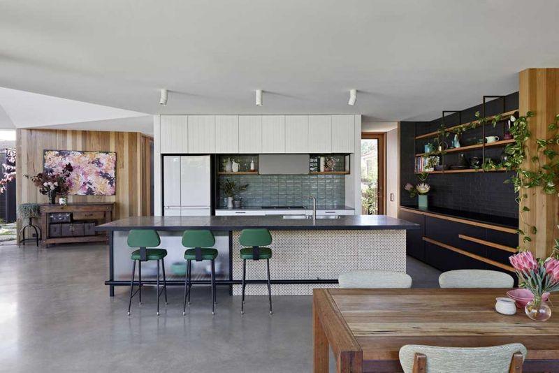 Salle à manger et cuisine - Annexe par Bent - Australie © notapaperhouse