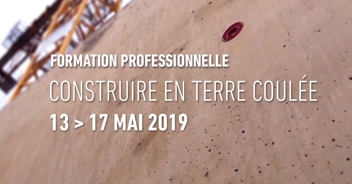 «Construire en terre coulée – 2ème édition (Châtenay-Malabry-FR92)»