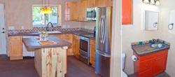 Aménagement cuisine et meuble salle de bains - Straw-Bale-Homes par Community Rebuilds - Moab, USA © Community Rebuilds