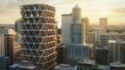 Concept immeuble bois centre urbain - La Ferme par Precht Designs - © Precht