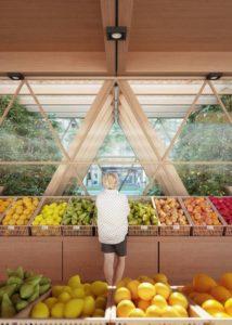 Entreposage aliments dans chaque immeuble - La Ferme par Precht Designs - © Precht