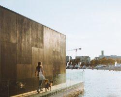 Façade acier et balustrade en verre - Koda-light-float par kodasema - Estonie © Terje Ugandi
