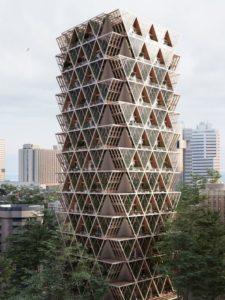 Immeuble bois concept - La Ferme par Precht Designs - © Precht