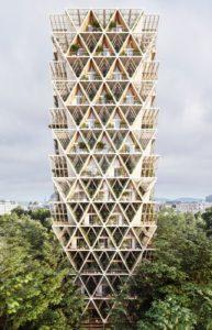 Immeuble modulaire bois - La Ferme par Precht Designs - © Precht
