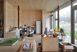 Intérieur en bois - oosterword-bureau SLA and ZakenMaker - Pays Bas - Photo Filip Dujardin