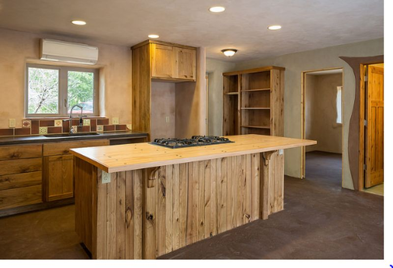 Meubles cuisine - Straw-Bale-Homes par Community Rebuilds - Moab, USA © Community Rebuilds