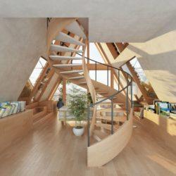 Module A et escalier bois - La Ferme par Precht Designs - © Precht