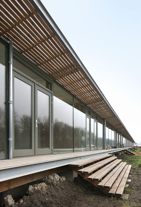 Perron bois entrée sur chaque maison - oosterword-bureau SLA and ZakenMaker - Pays Bas - Photo Filip Dujardin