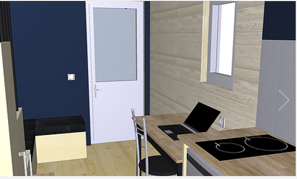 Bureau et cuisine - Tiny house Ty Study par Aurelie - Saint-Brieuc, France