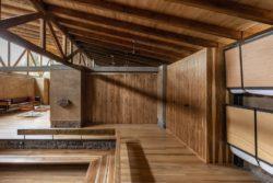 Intérieur bois - Casa Lasso par RAMA Estudio - San Jose, Equateur © Jag Studio