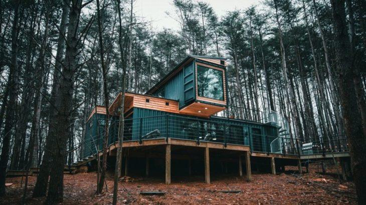 Une - Box-Hop par Emily-Seth - Hocking Hills, Etats-Unis © Moody Cabin Girl