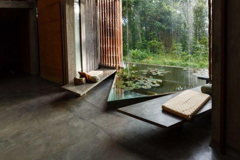 Petite piscine jardin - Chirath par Wallmakers - Kerala, Inde © Anand Jaju
