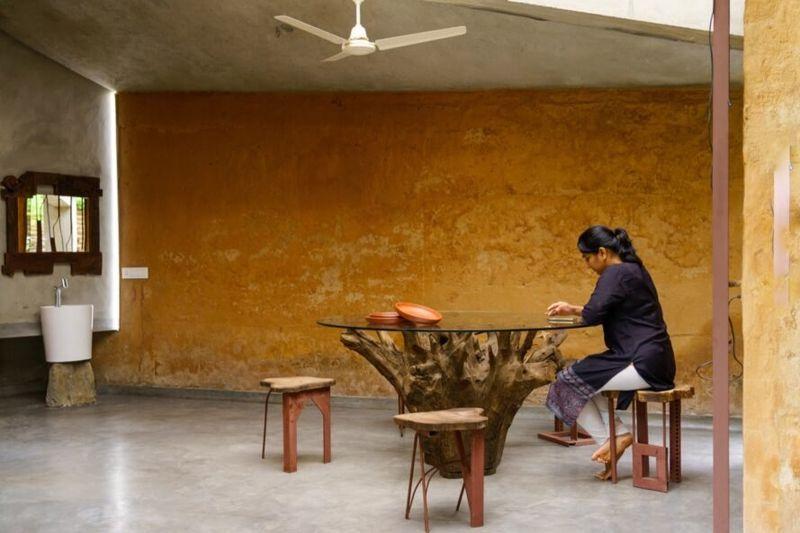 Salle séjour - Chirath par Wallmakers - Kerala, Inde © Anand Jaju