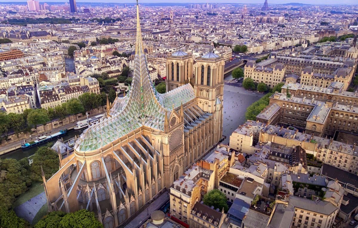 Une - Rooftop-Farm-Notre-Dame par Vincent Callebaut Architectures - Paris, France
