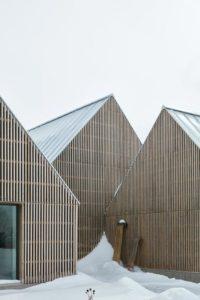 Façade en bois - Hatley-House par Pelletier-Fontenay - Hatley, Canada © James Brittain