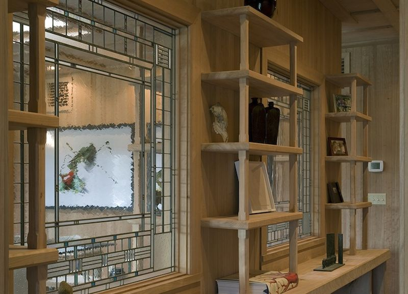 Rangement avec bois recyclé - Solar-House par Allan Shope - New York, USA