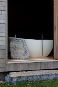Salle de bains - Woodstock Vermont Farm par Rick-Joy - Vermont, USA © Jean-Luc Laloux
