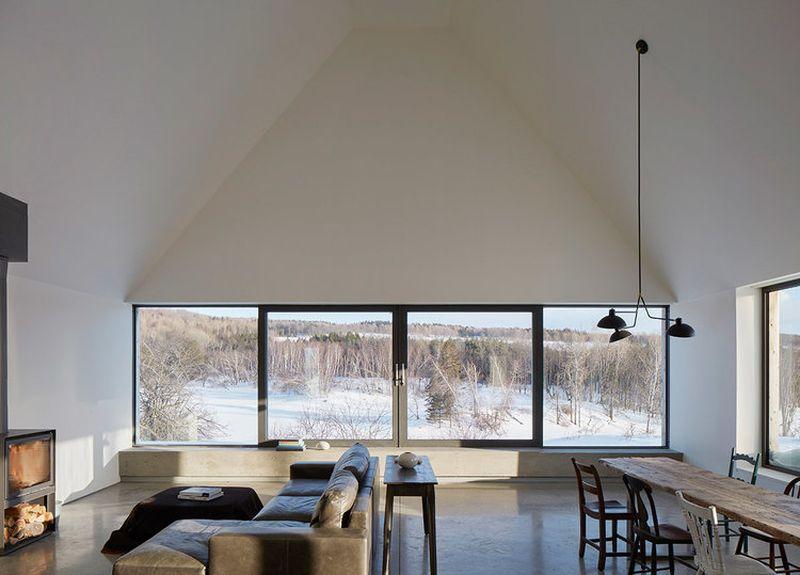 Salon et séjour - Hatley-House par Pelletier-Fontenay - Hatley, Canada © James Brittain