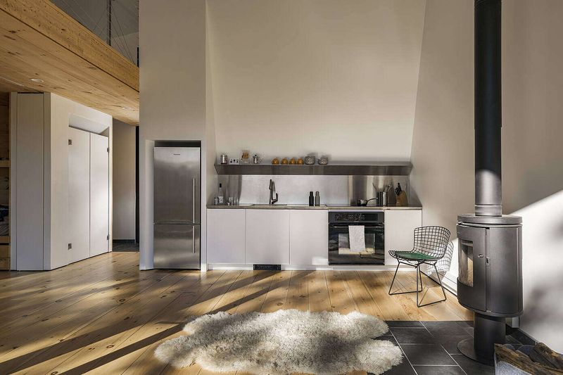 Cuisine - Cabin-Rock par I-Kanda-Architects - New Hampshire- USA © Matt Delphenich