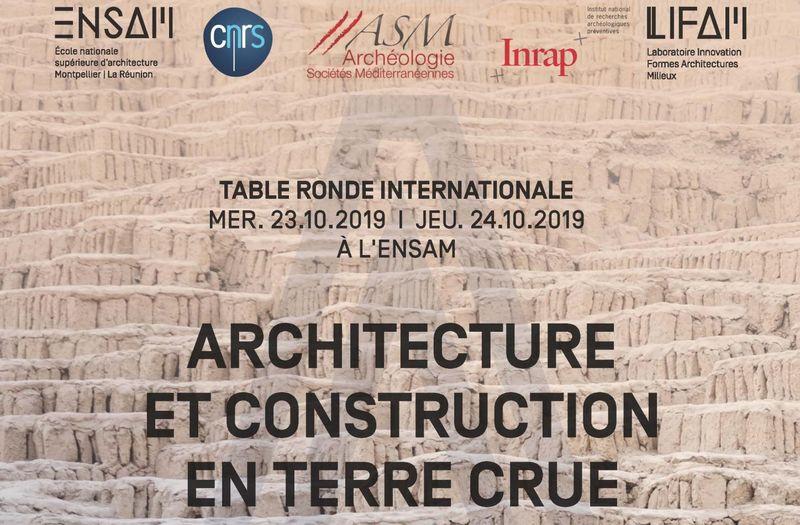 5ème Echanges Transdisciplinaires sur les Constructions en Terre Crue –