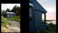 Façade en aluminium - Retreat-Island par Alex Scott Porter Design - USA