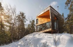 Façade principale - Cabin-Rock par I-Kanda-Architects - New Hampshire- USA © Matt Delphenich