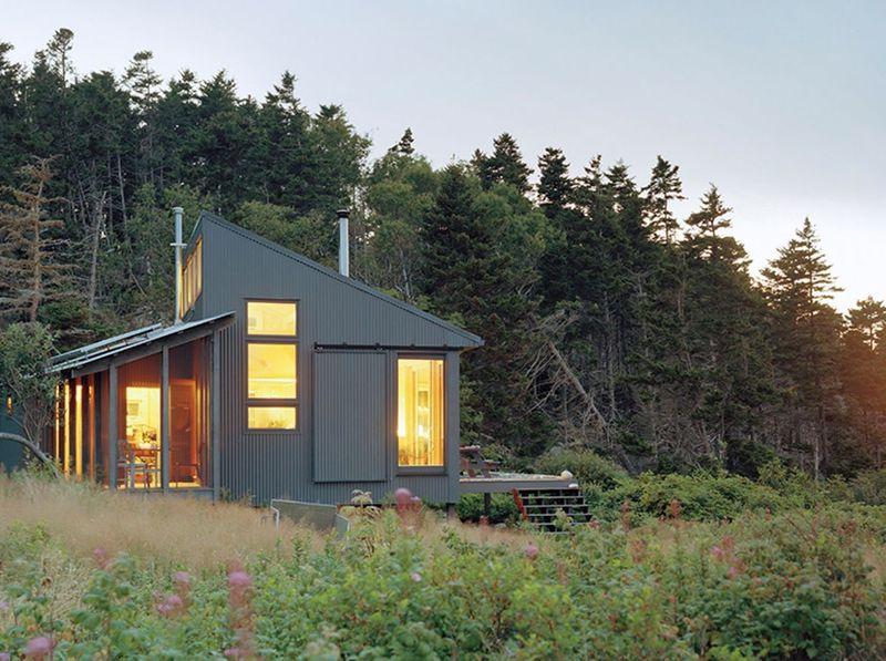 Façade principale illuminée - Retreat-Island par Alex Scott Porter Design - USA