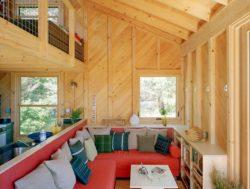 Salon et cuisine - Retreat-Island par Alex Scott Porter Design - USA