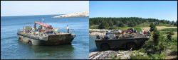Transport matériaux sur le site - Retreat-Island par Alex Scott Porter Design - USA