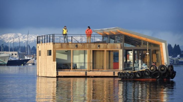 Une - Floating-home par Ninebark Design - Seattle, USA © Aaron Leitz