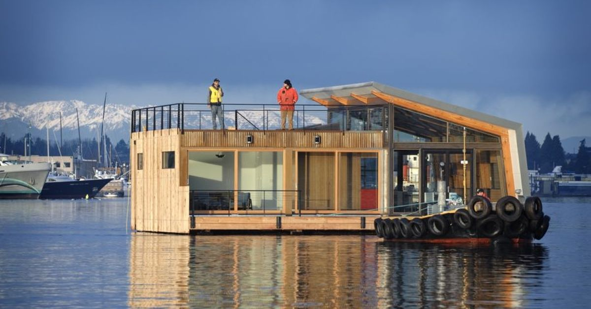 Une - Floating-home par Ninebark Design - Seattle, USA © Aaron Leitz