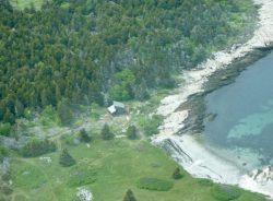 Vue aérienne site - Retreat-Island par Alex Scott Porter Design - USA