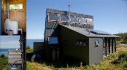 WC écologique - citerne récupération eau et panneaux solaires - Retreat-Island par Alex Scott Porter Design - USA