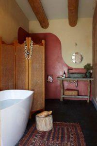 Salle de bains - Earthship Te Timatanga par Gus-Sarah - Waikato, Nouvelle-Zelande