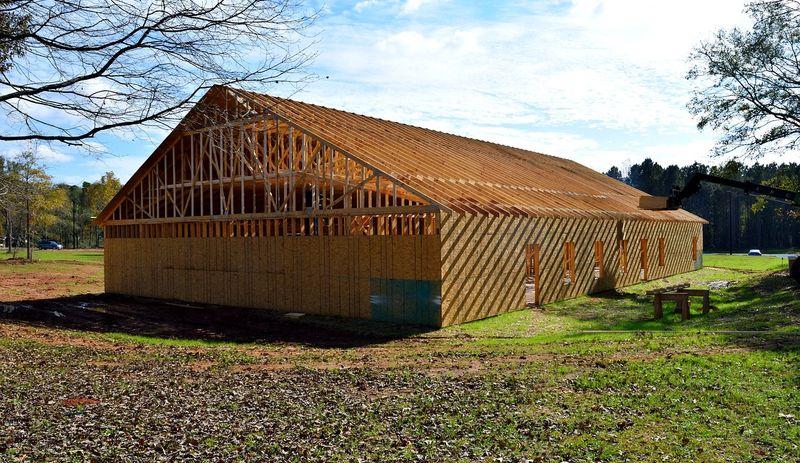 maison avec façade en bois