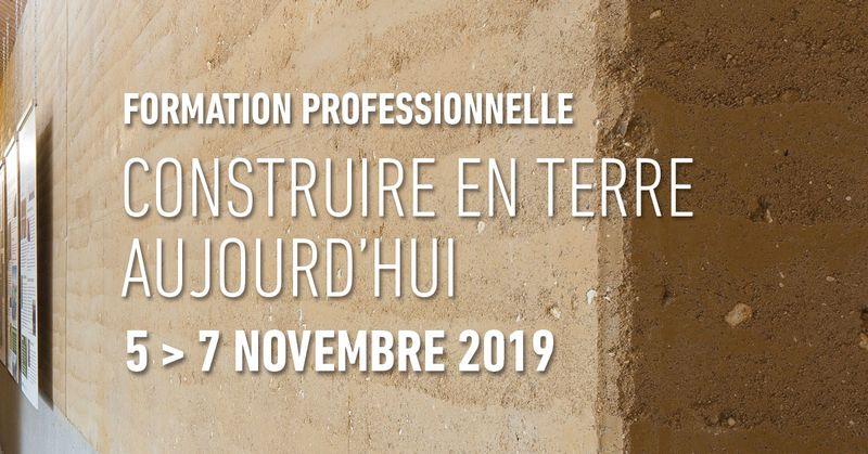 Formation Professionnelle – Construire en terre aujourd'hui – Villefontaine (38)