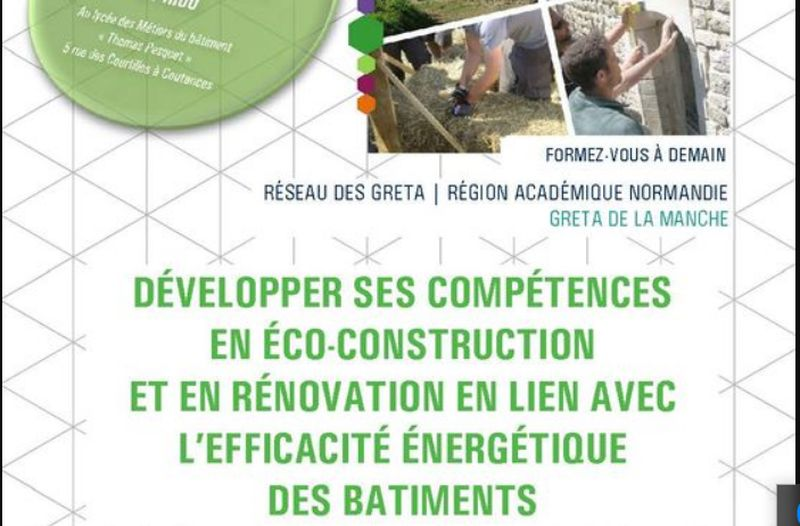 Réunions Collective / Formation Eco-Construction (H/F) – Coutances (50)