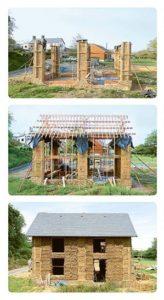 maison bois terre paille