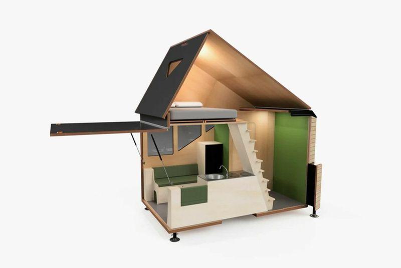 2- Micro-Cabin-Motorhome par Haaks Opperland campervan - Pays-Bas