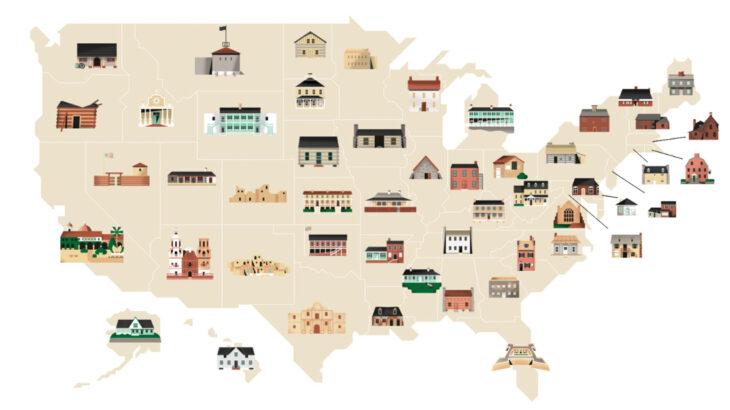 Une-maisons-anciennes-USA
