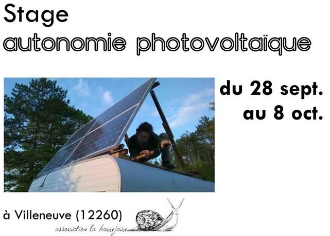 Stage Autonomie Photovoltaïque – Villeneuve (FR-12)