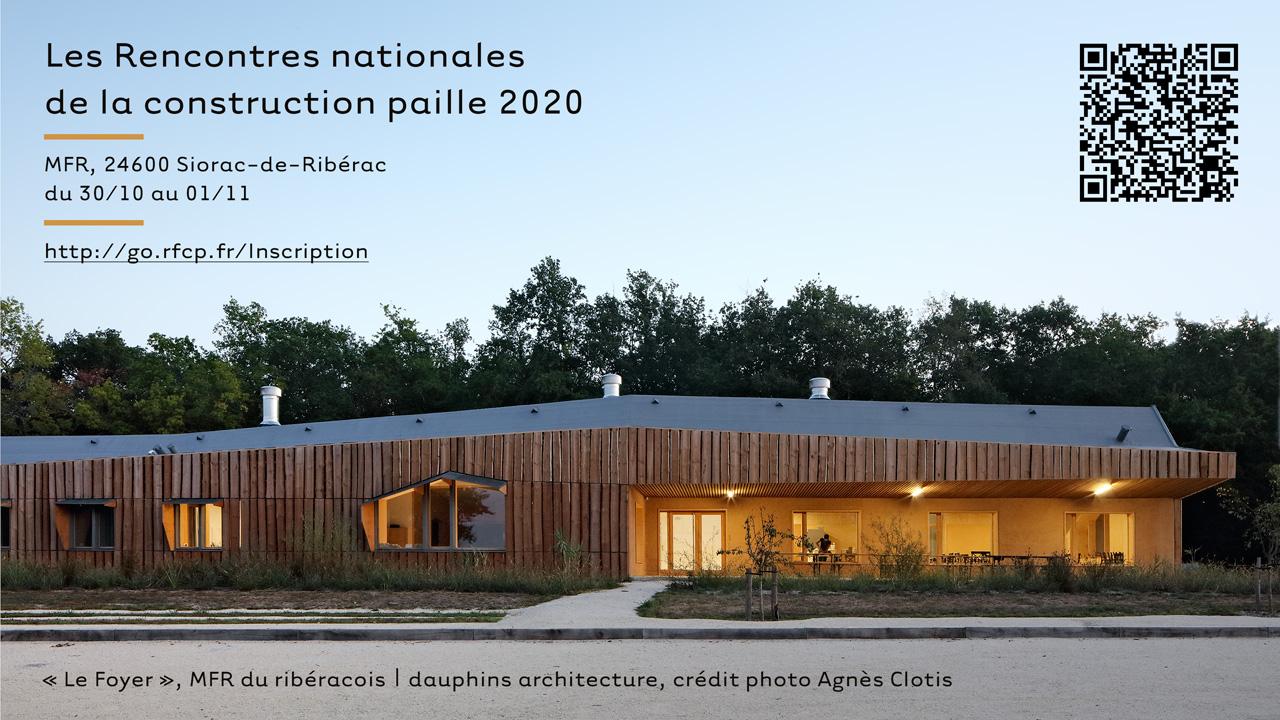 Rencontres nationales de la construction paille 2020 – Siorac-de-Ribérac (FR-24)