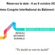 Le Congrès interNational du Bâtiment Durable 2021 – E-event