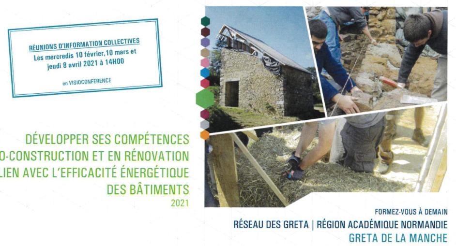 Développer ses compétences en éco-construction, rénovation en lien avec l'efficacité énergétique des bâtiments – Coutance (FR-50)