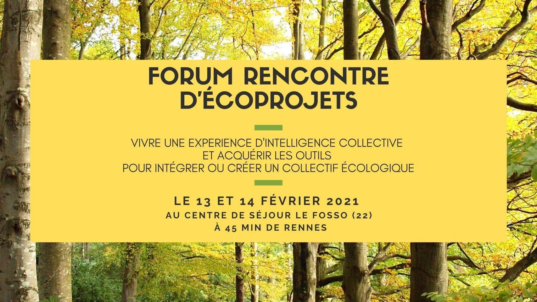 Forum Rencontre d'éco projets – Le Fosso (FR-22)