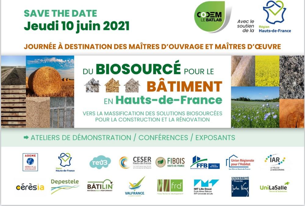 Du Biosourcé pour le Bâtiment en Hauts-de-France – Codem – Amiens (FR-80)
