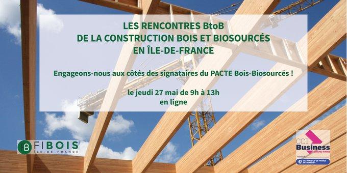 Les rencontres BtoB de la construction bois-biosourcés en Île-de-France – e-Event