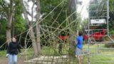 Atelier vannerie en bambous - Ben des Bois - « Cité Vivant » Festival Bellastock 2021 - le CAAPP. Evry Courcouronnes (FR-91) - Photo Pascal Faucompré - Build Green