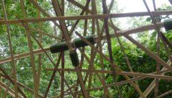 Fixation bambou - Festival Ecole Zéro 2021